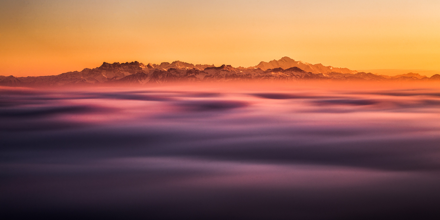 The Alps over the Sea of fog by Alexandre Lachausse