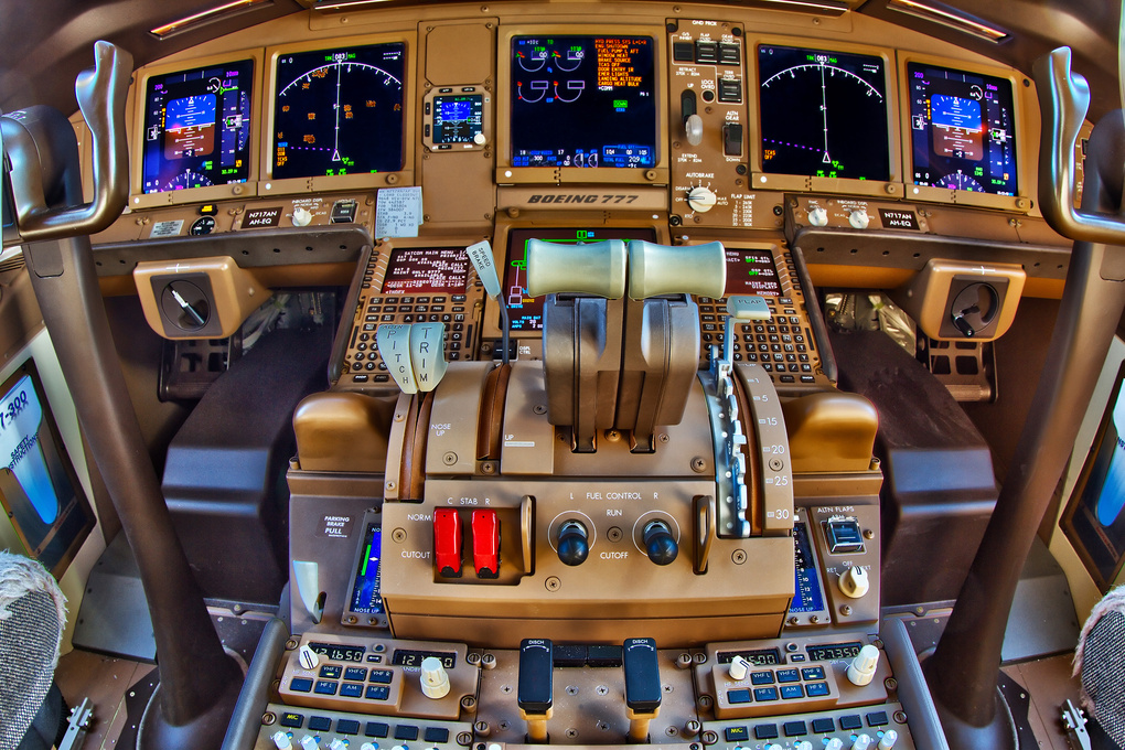 Flight Deck 777 by Steve Gould