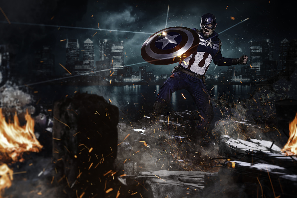 Captain America by Richard Johnson