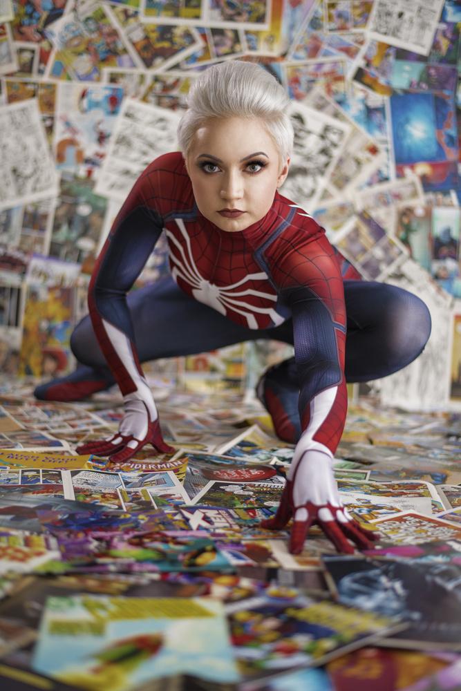 Vixie as Spider-Man by Richard Johnson