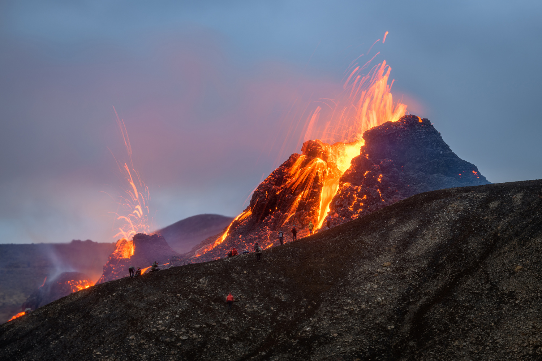 Geldingadalsgos Volcanic Eruption in Iceland 2021 by Einar Gudmann