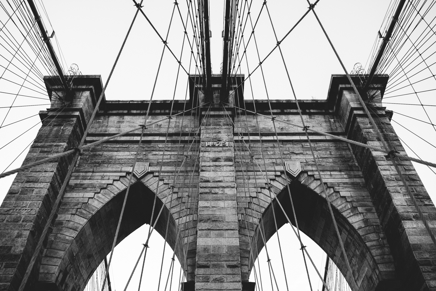 Classic view of the Brooklyn Bridge by Marco Fiorini