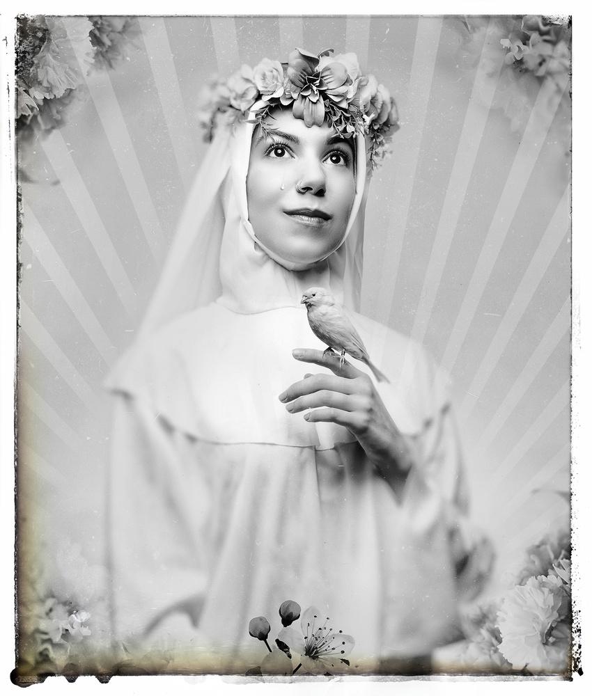 Madonna, bw by Ian Pettigrew