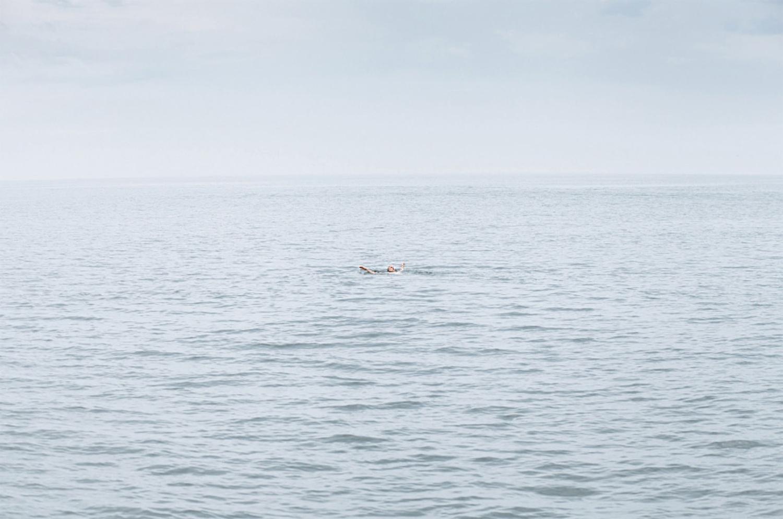 tiny swimmer by Ian Pettigrew