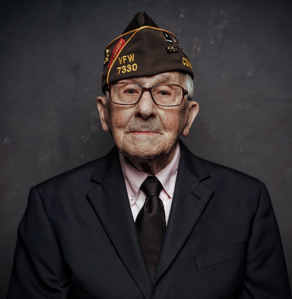 WW2 vet, portrait detail by Ian Pettigrew