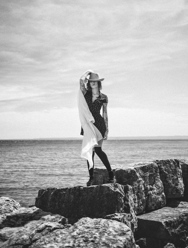 standing on a rock, 4 by Ian Pettigrew