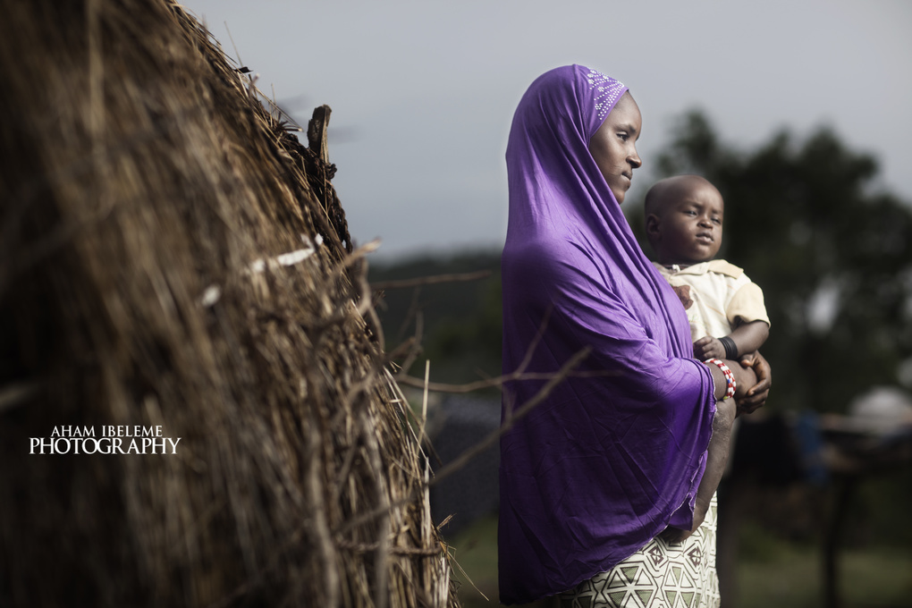 Mother and child by Aham Ibeleme