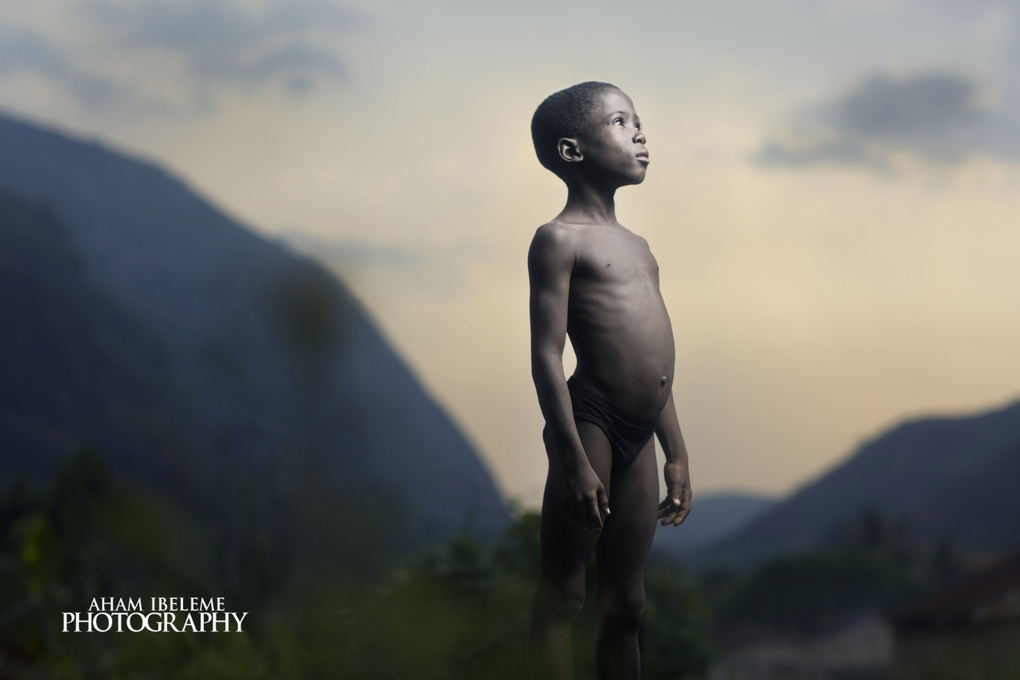 Portrait of an Idanre boy by Aham Ibeleme