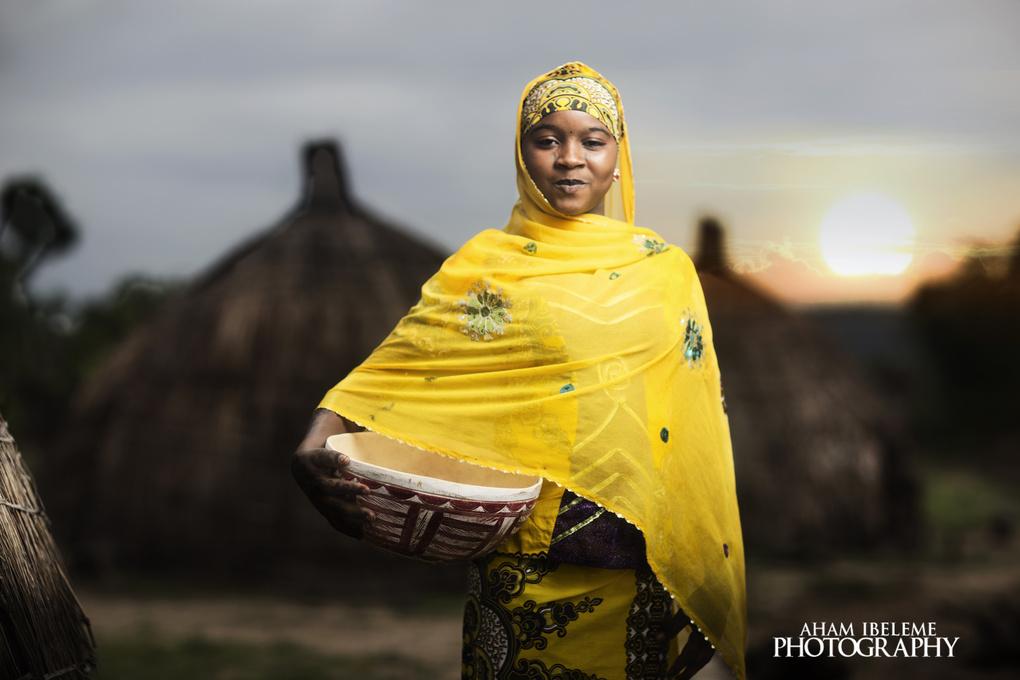 A Fulani girl by Aham Ibeleme