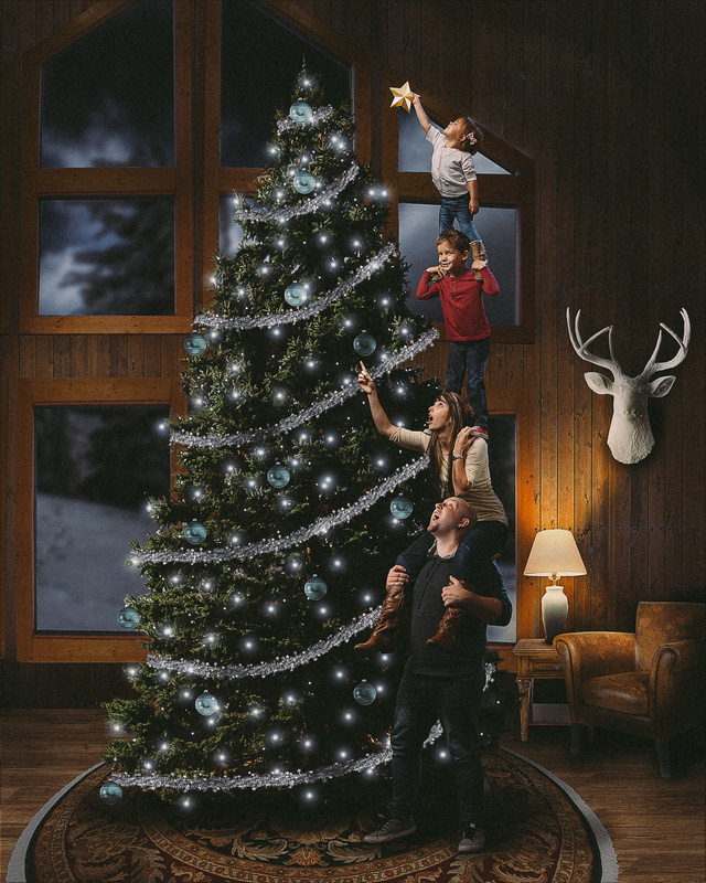 Family Christmas Card by Geoff Heith