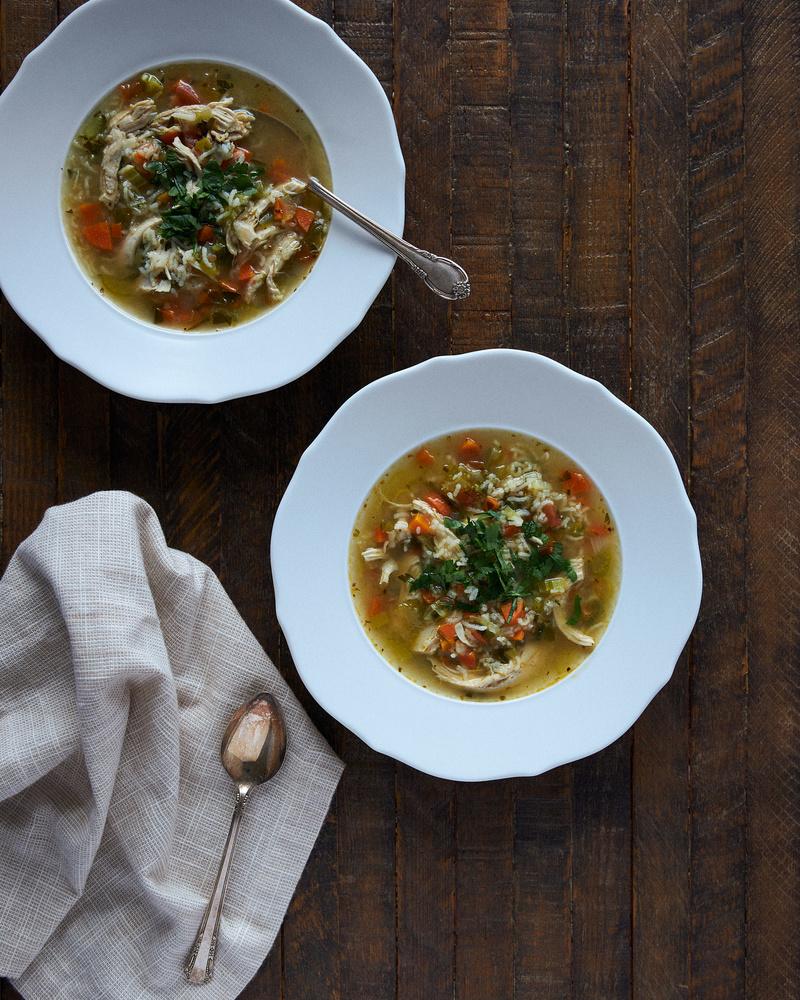 Chicken Rice Soup by Gary Barragan
