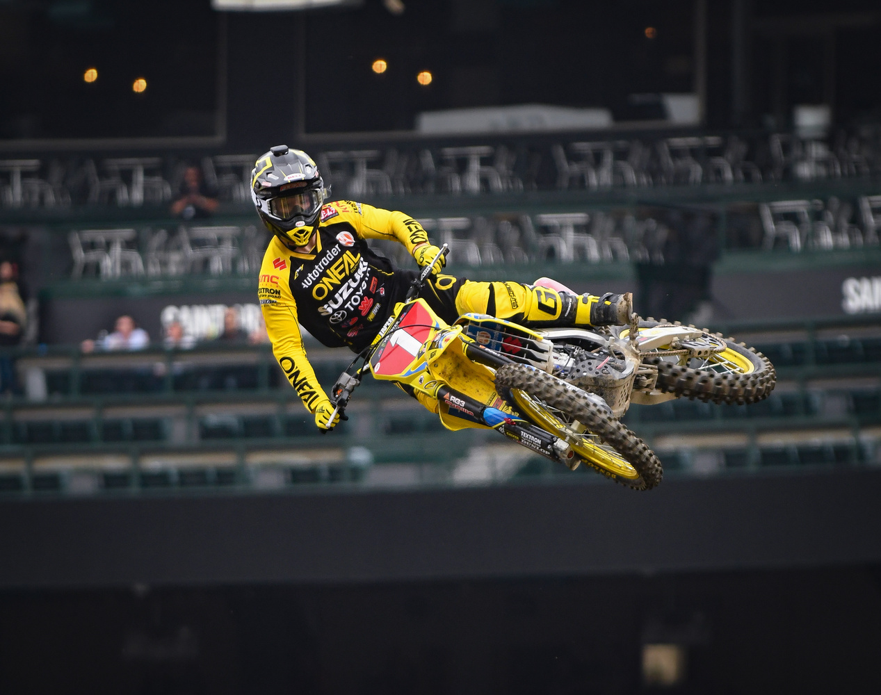 Justin Hill at Anaheim Supercross by Douglas Turney