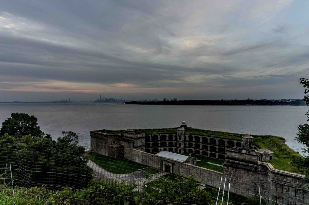 Over looking fort wadsworth staten island new york by Paul Quince