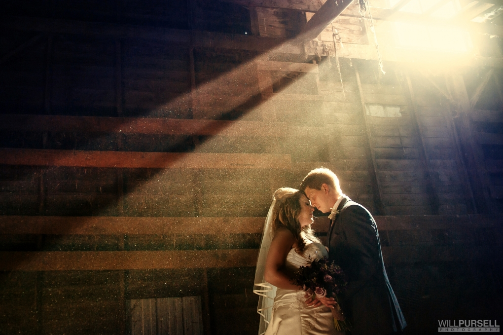 amazing light in barn by Will Pursell