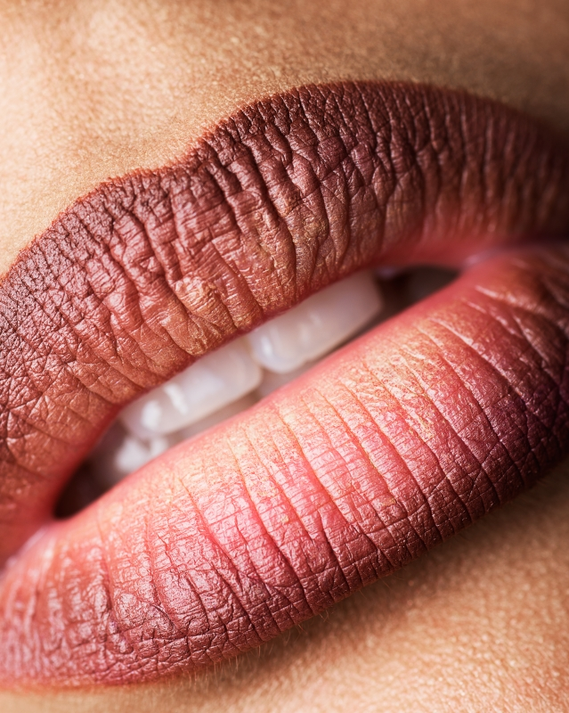 Lips of Erika Palcovicova by Frederic Charpentier