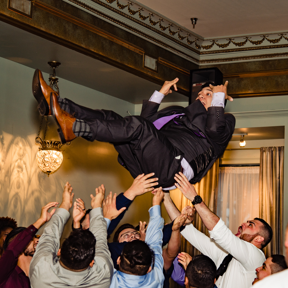 Groom Toss by Bill Wells