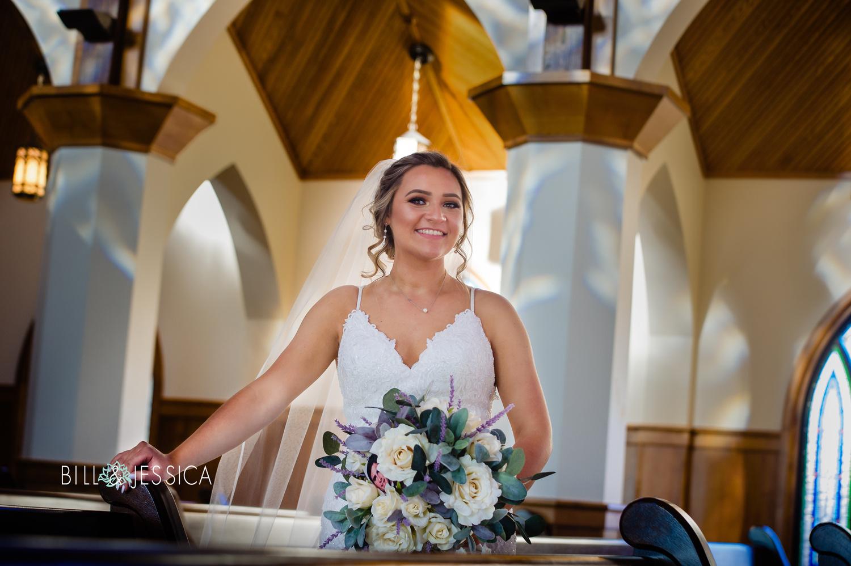Bride in church by Bill Wells