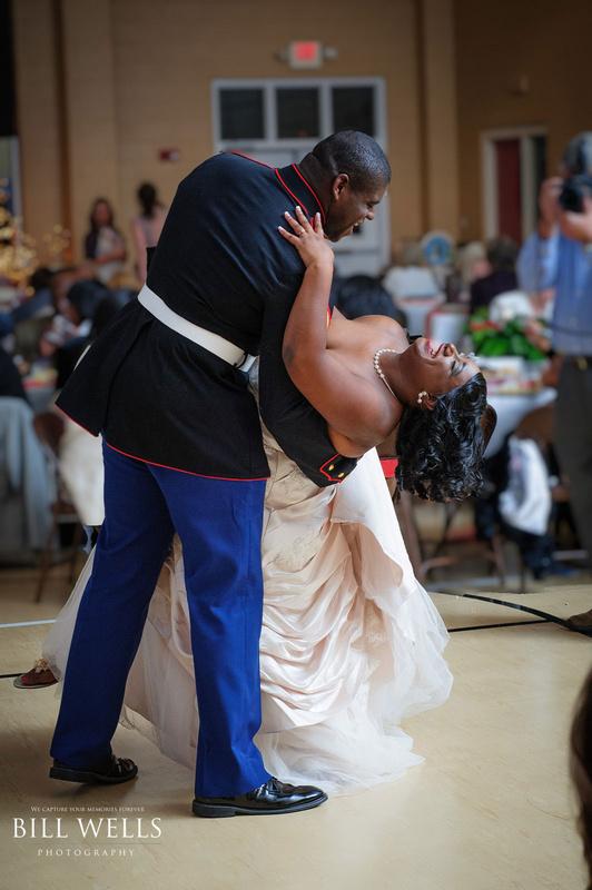 Marine Dances with Bride by Bill Wells
