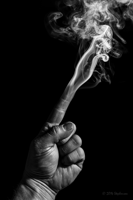 Smoking Finger by Steve Stephenson