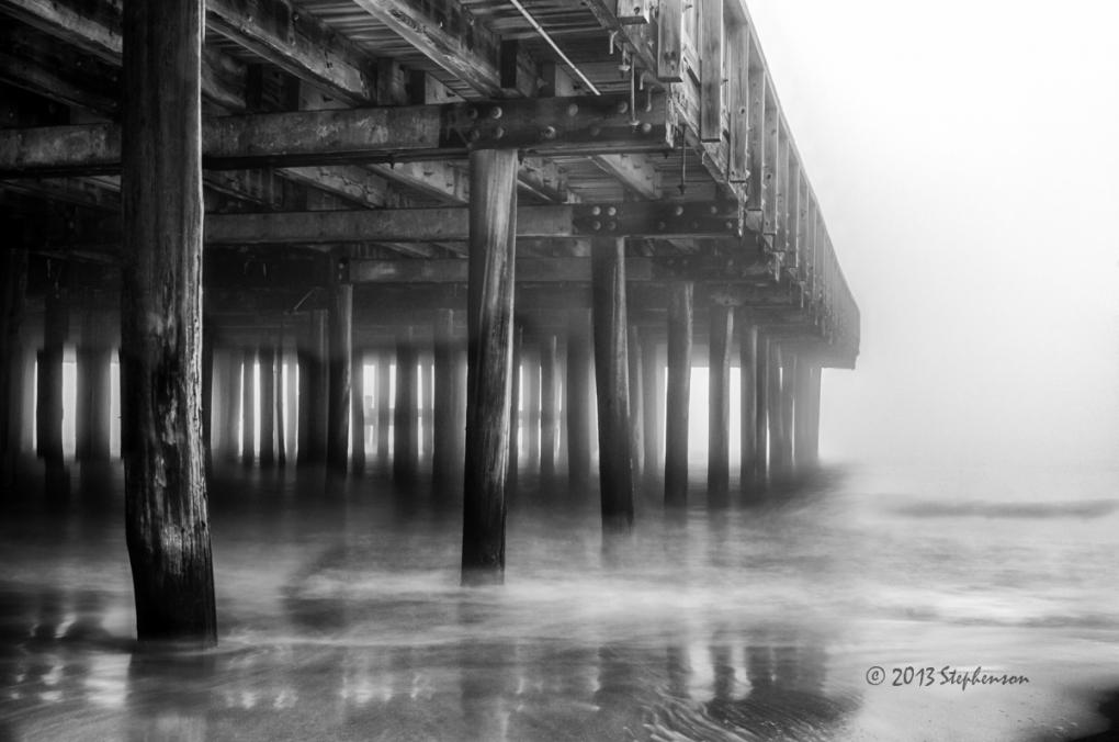 Bukroe Beach Pier by Steve Stephenson
