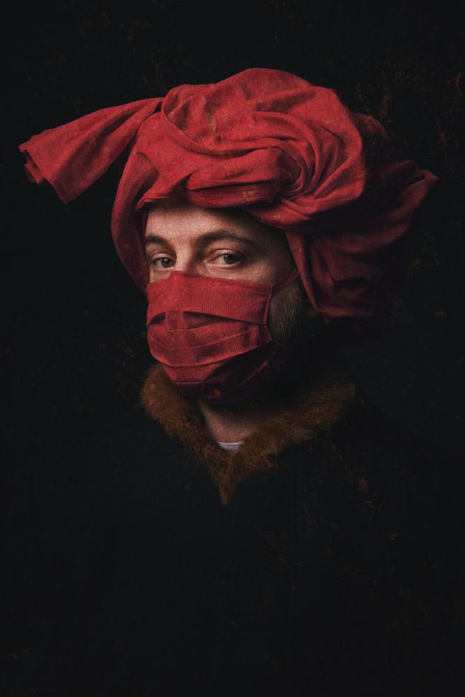 Portrait of a (masked) man by Anthony Passant