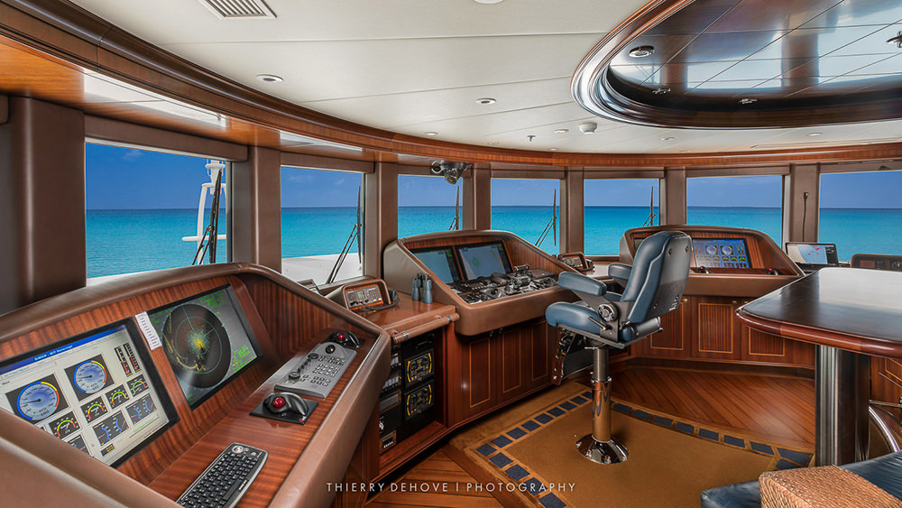 Bridge on Mega Yacht Interior by Thierry Dehove