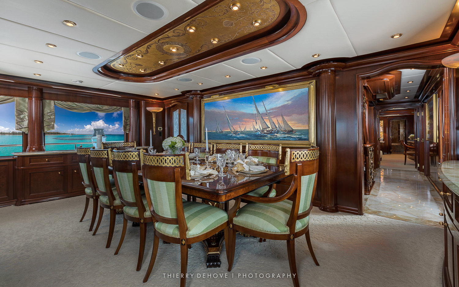 Mega Yacht Interior by Thierry Dehove