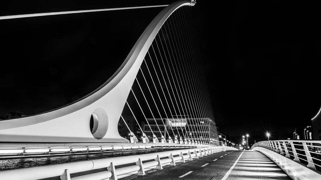 Samuel Beckett Bridge, Dublin Ireland by Wayne Denny