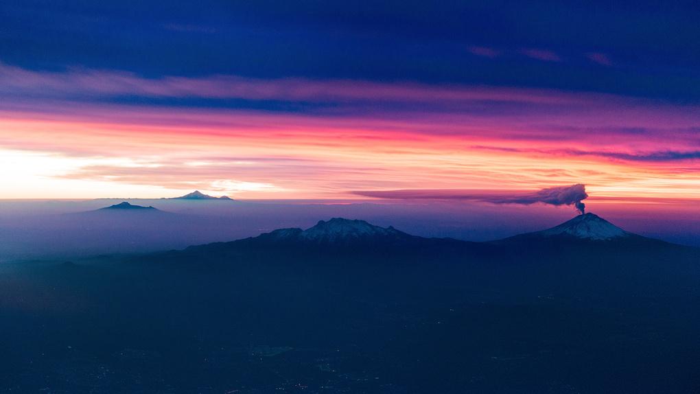 Volcano at Sunrise by Wayne Denny