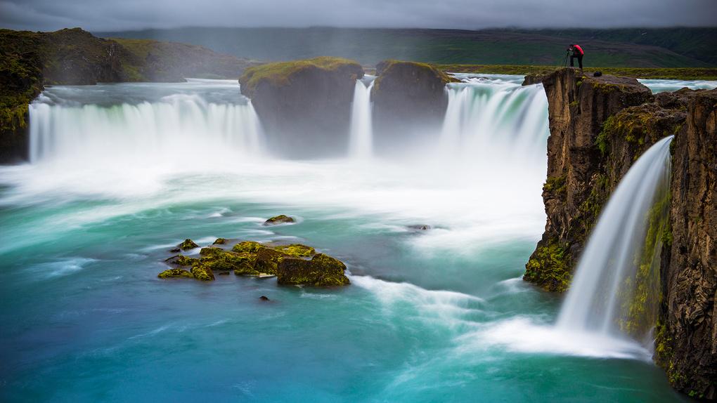 Godafoss, Northern Iceland by Wayne Denny
