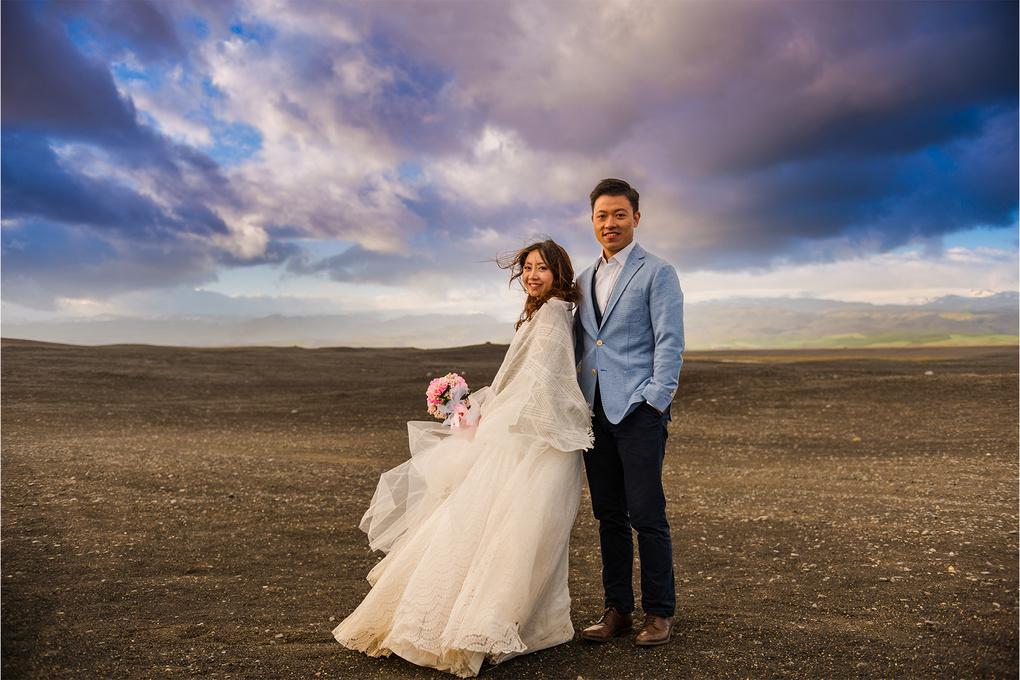 Icelandic Bride & Groom by Wayne Denny