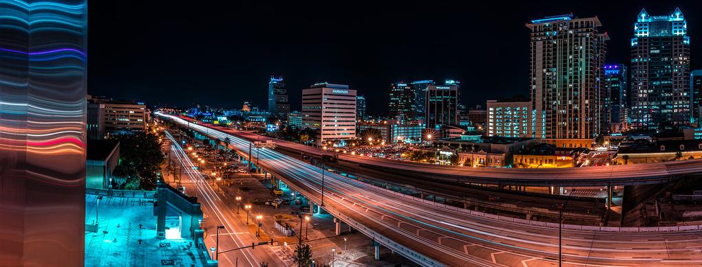 I4 Through Downtown Orlando by Wayne Denny