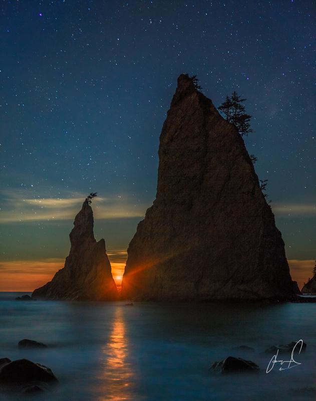 Starry Moonset by Jason Matias