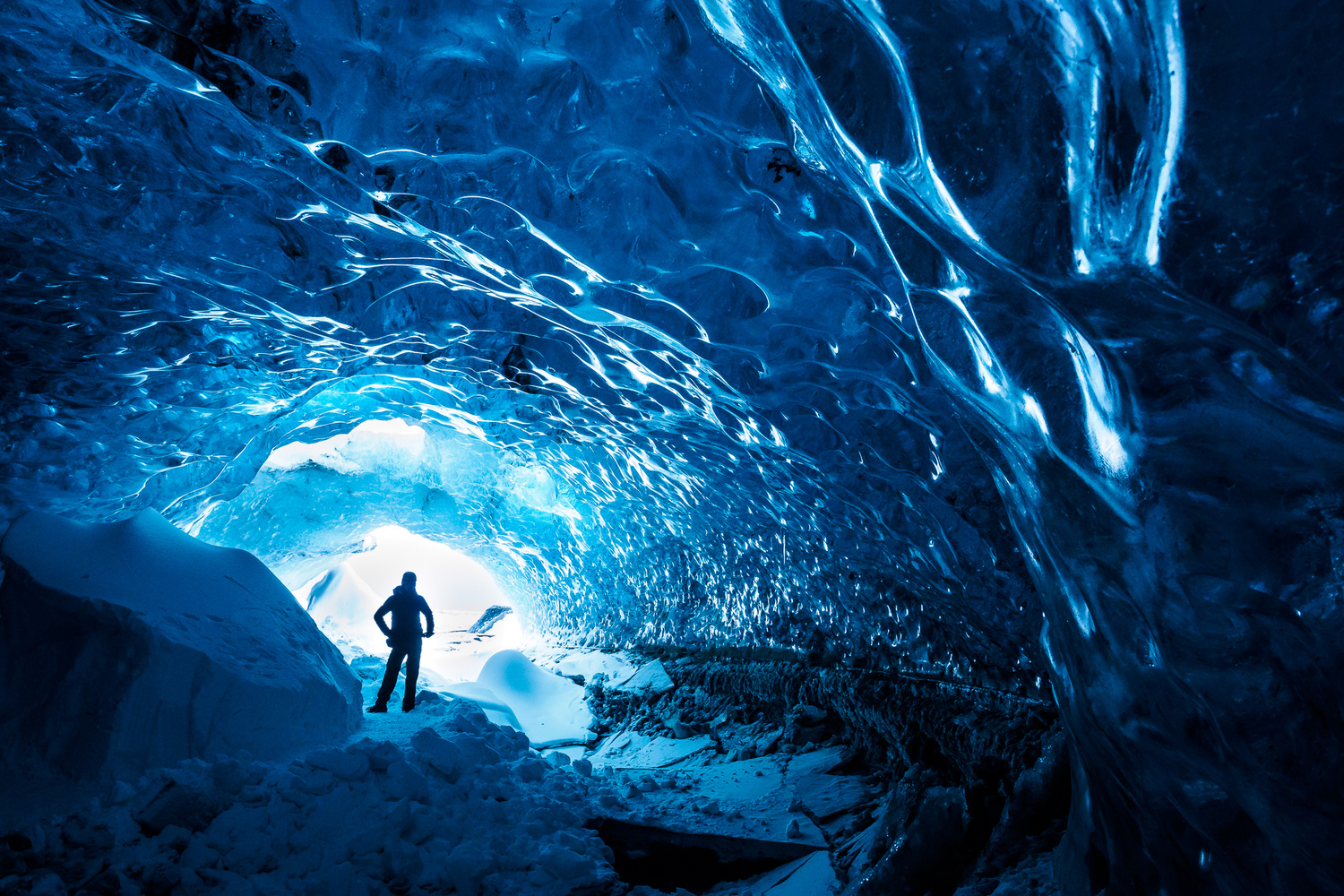 Ice Cave Tube Selfie by Niklas Möller