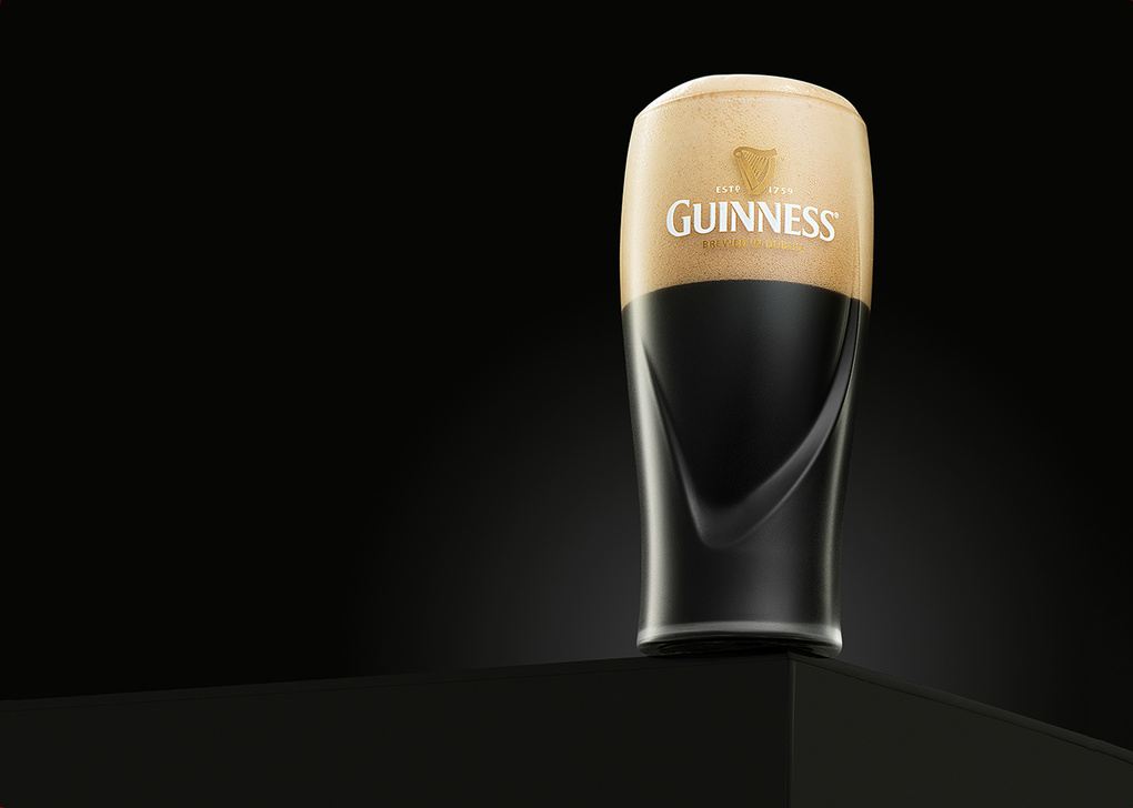 Guinness Beer in Guinness glass by Yechiel Orgel