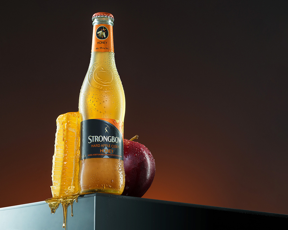 Strongbow Hard Apple Cider Honey Flavored  by Yechiel Orgel