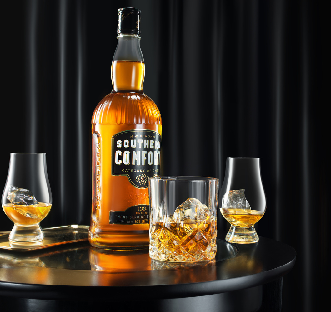 Luxury Whiskey Southern Comfort Beverage Shoot by Yechiel Orgel
