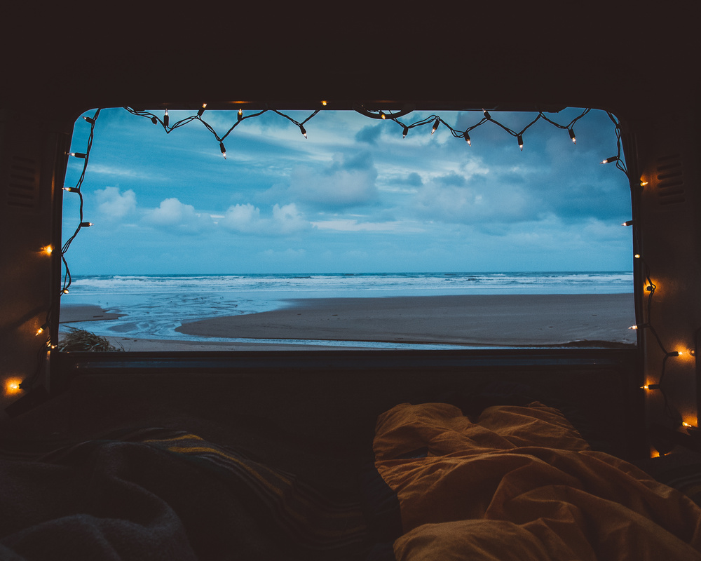 Christmas Morning on the Oregon Coast by Forrest Mankins