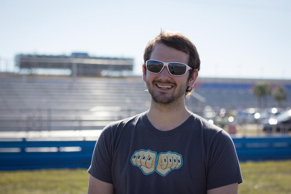 Jake at Daytona International Speedway  by Jonathan Craige