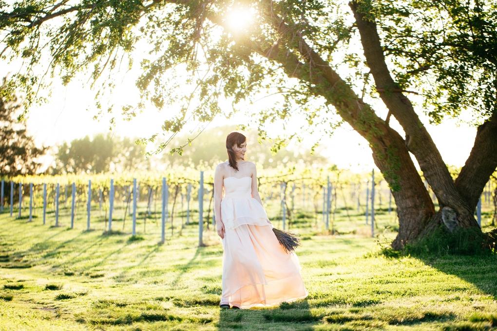 Winery Chiffon Gown by Kristi Woody