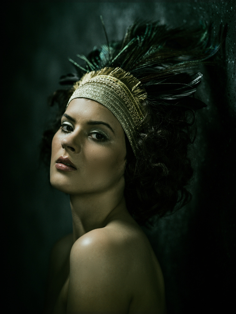Nikol with Headdress by Martin Drazsky