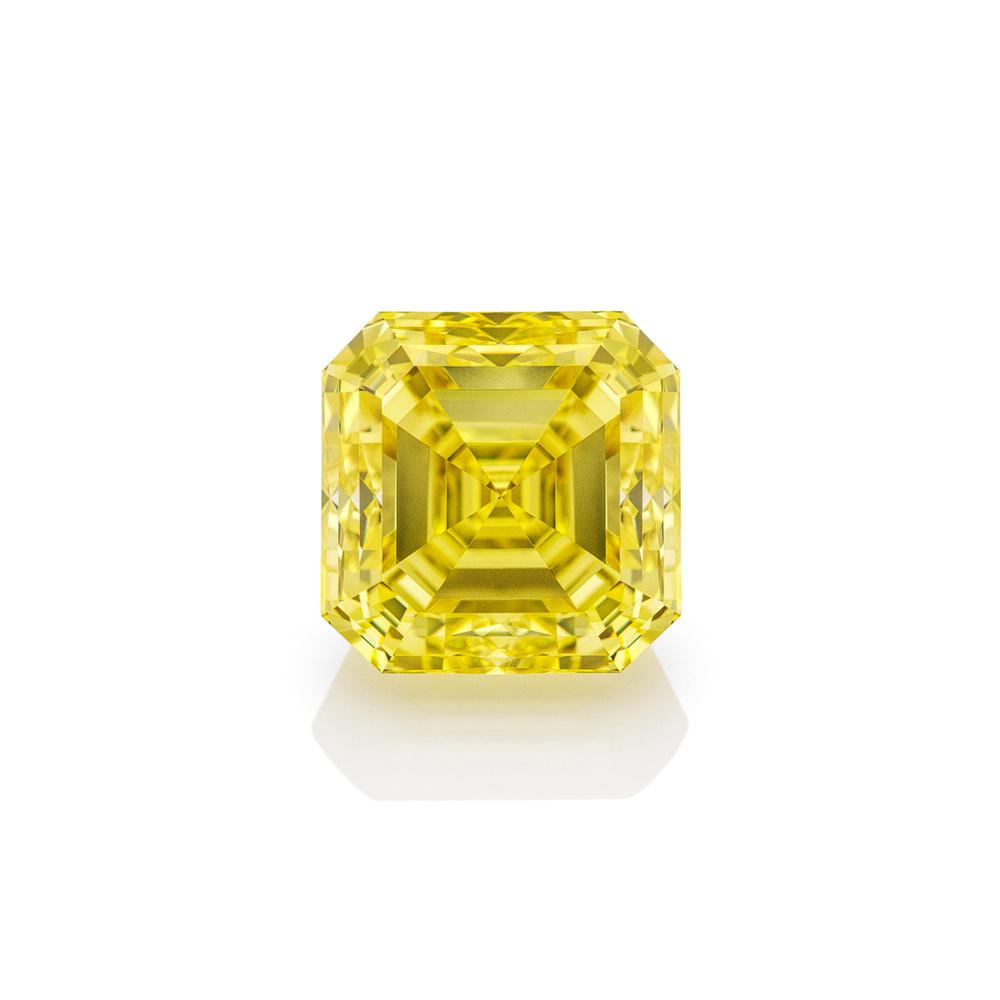 Fancy Yellow Asher Cut by Edgar Maivel