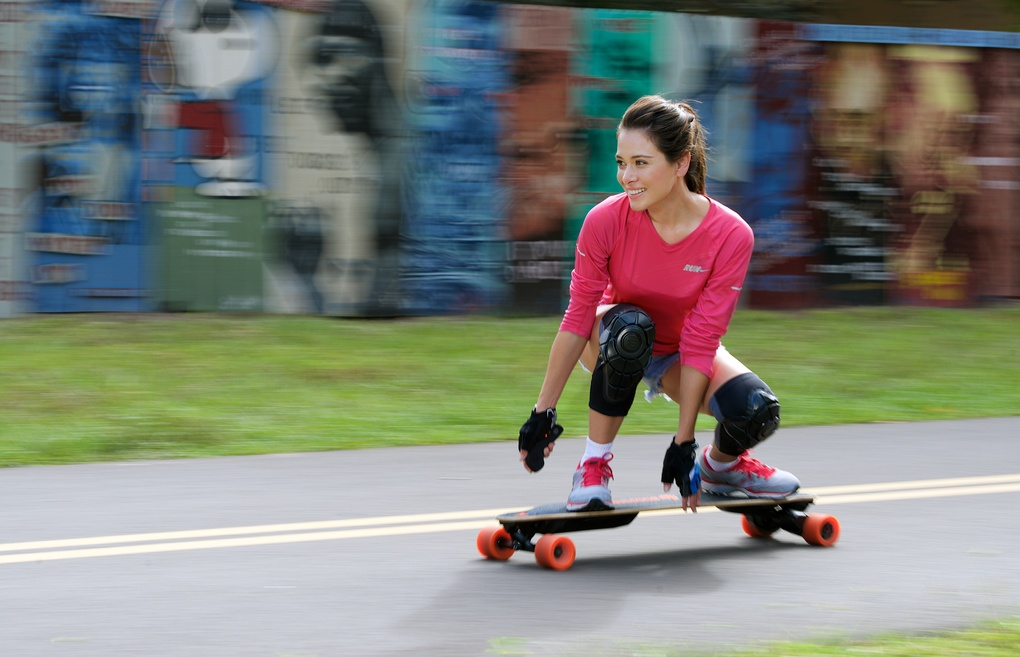 Nina on Boosted Board by Craig Mitchell