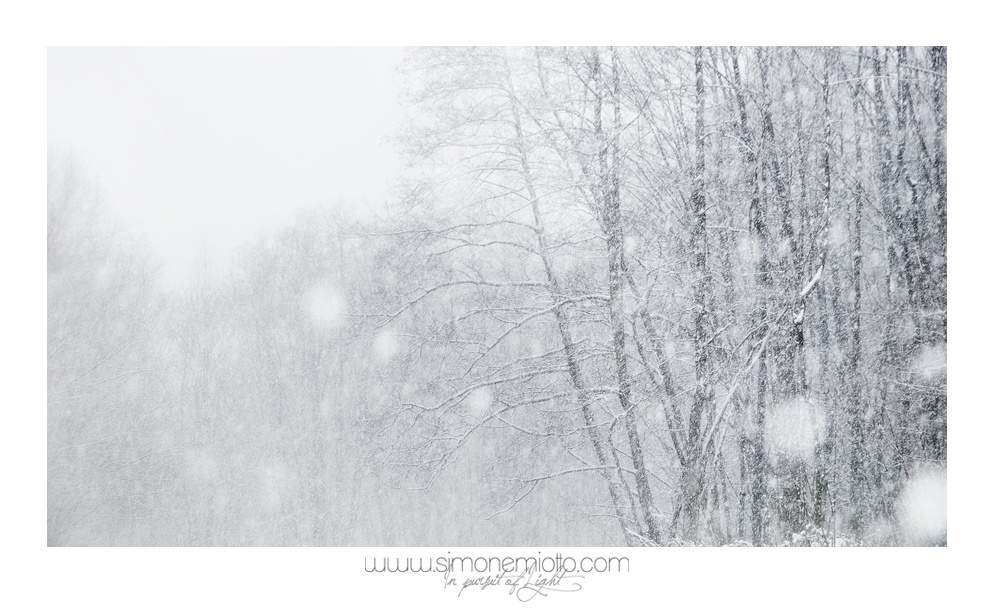 Story about a snowfall, part one by Simone Miotto