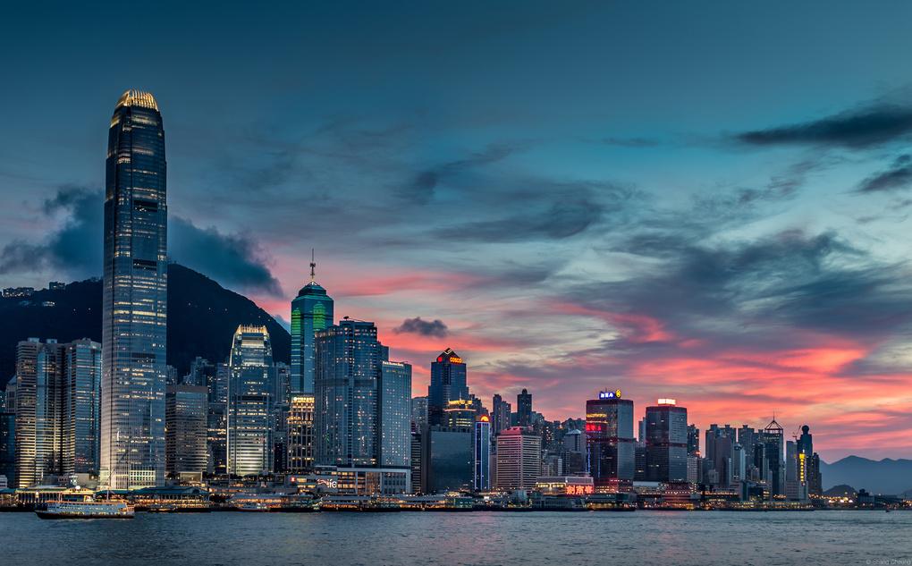 Cityscape of Hong Kong by Shang Cheung