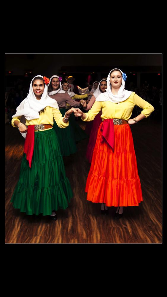 Greek Gala Dancers by Mihael Julius