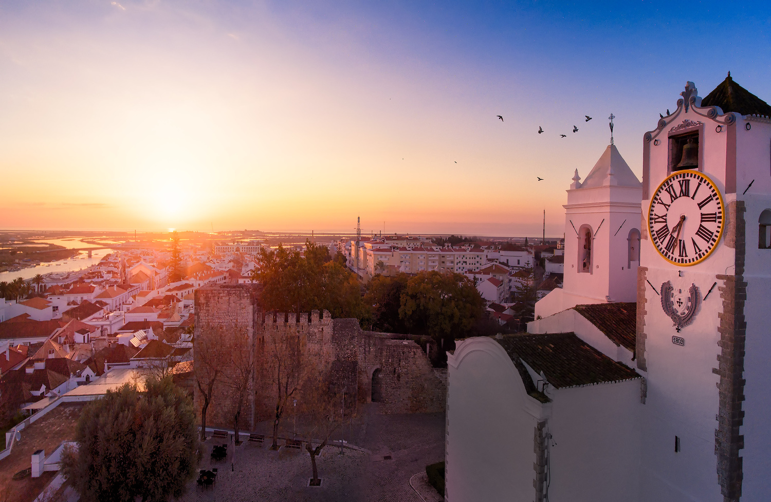 The sun rises on Tavira by Jerome Courtial