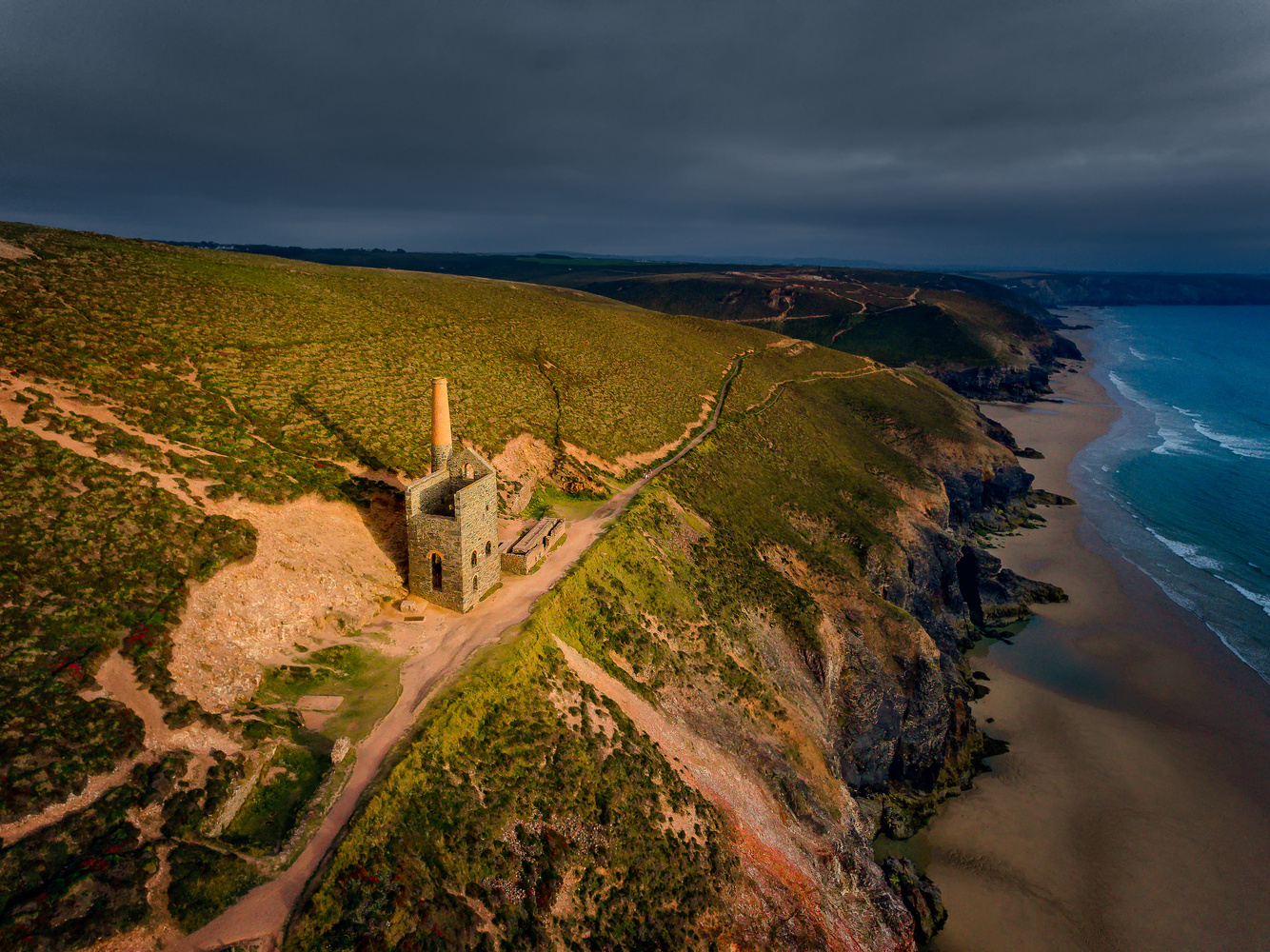Wheal Owles, Mining ruins in Cornwall by Jerome Courtial