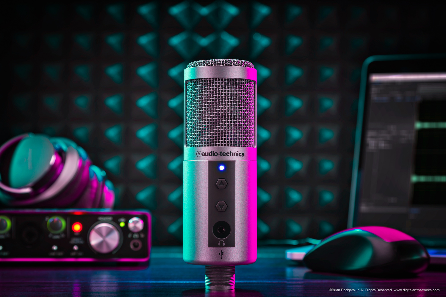 Audio Technica Microphone Hero Shot by Brian Rodgers Jr.