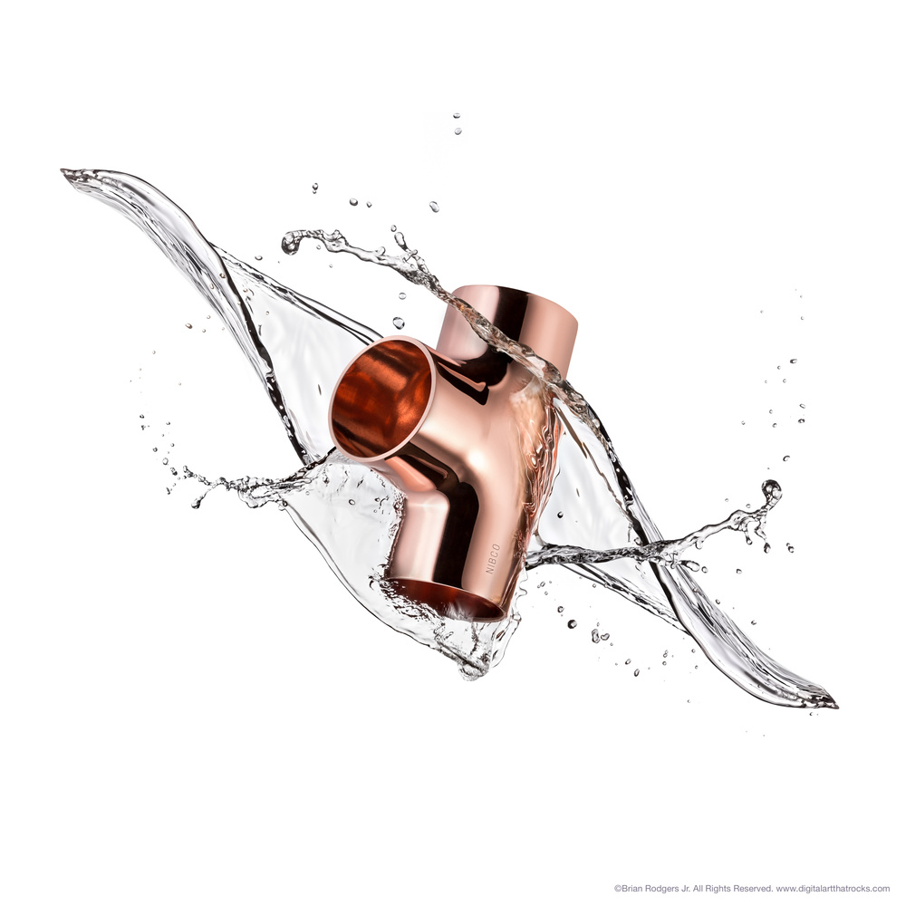 Copper Fitting Splash by Brian Rodgers Jr.
